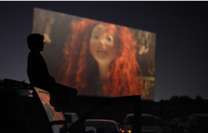 People watch Brave at the Winchester Drive-In in Oklahoma City. Staff Photo by Sarah Phipps