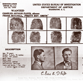 Charles Arthur 'Pretty Boy' Floyd became the FBI's 'Public Enemy No. 1.'