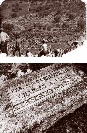 Thousands of people flocked to the funeral of Charles Arthur 'Pretty Boy' Floyd in 1934 to view his corpse.